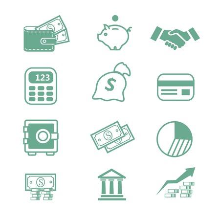 Iconos de las finanzas - ilustración Ilustración de vector