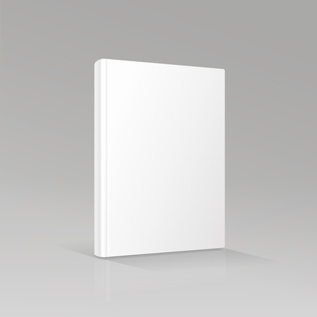 white book: blank book cover vector illustration gradient mesh Illustration