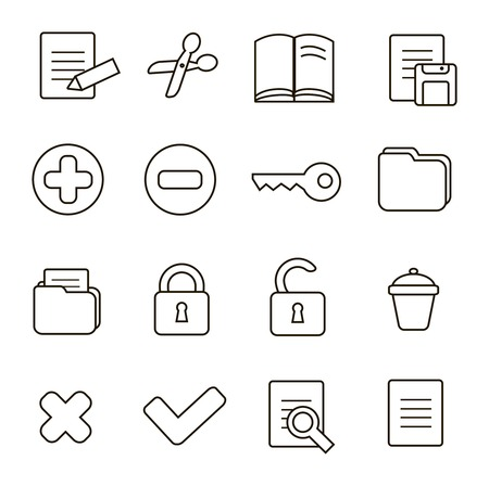decrypt: Navigation icon set illustration of different interface web