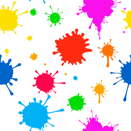 Vector pattern of colored blots on  white background for design Vector