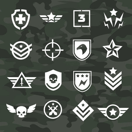 Icônes de symboles militaires et des logos des forces spéciales Banque d'images - 36321401