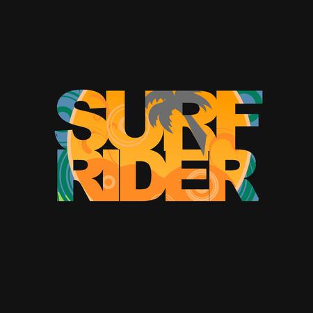 freeride: Surf rider  typography, surf t-shirt graphics Stock Photo