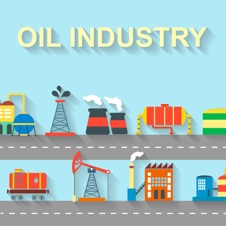 manufactory: Factory building industry and technology concept with manufactory and industrial icons vector illustration