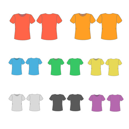 t shirt printing: Set of templates colored t-shirts  for men.