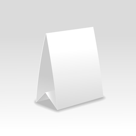 Blank paper table cards vector  isolated on grey background.