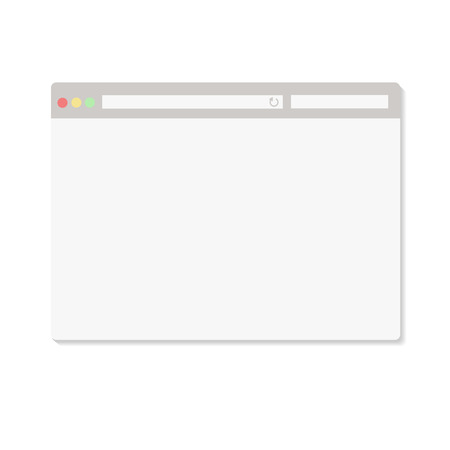 screenshot: Simple browser window on white background vector