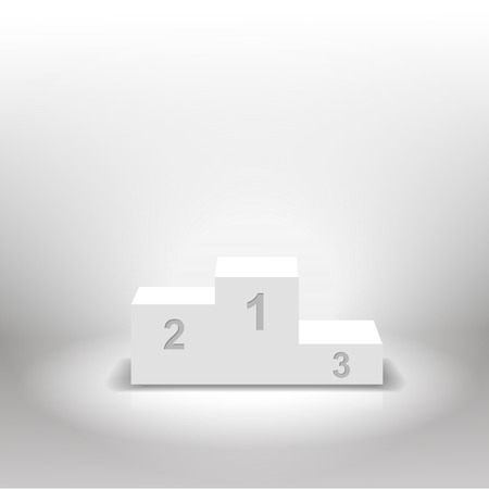 White winners podium for business concepts  vector illustration Vector