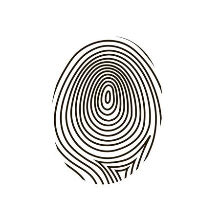 fingermark: black drawing  fingerprint on white background Stock Photo