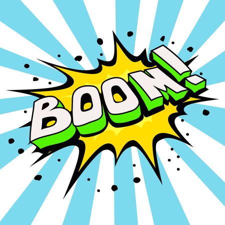 zonk: Boom Comic Speech Bubble,  Cartoon