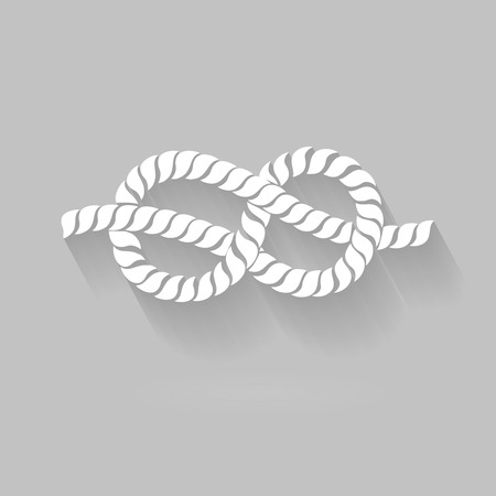 timeless: Black and White Rope Eight Knot Graphic Design flat Style