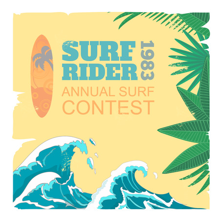 rescue signs: Sport surf typography Illustration