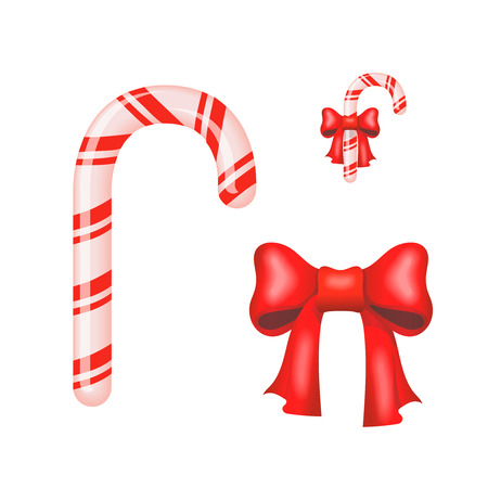 spearmint: Christmas Candy Cane isolated on a white background Illustration