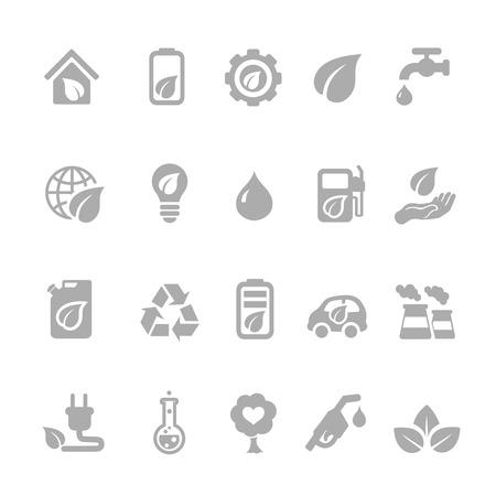 kinetic: Set of eco energy icons