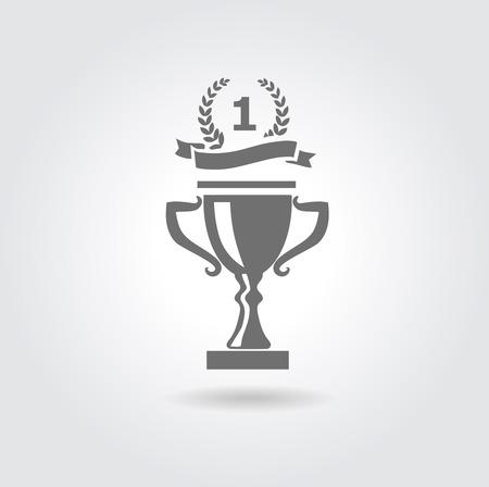 Trophy vector icon Illustration