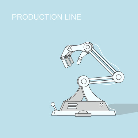 Robotic production line   Manufacturing and machine, automation  industry Vector