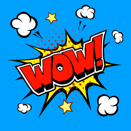 explode: Wow! Comic Speech Bubble, Cartoon