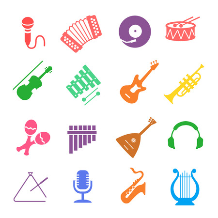 saxophone: Musical instruments icon set