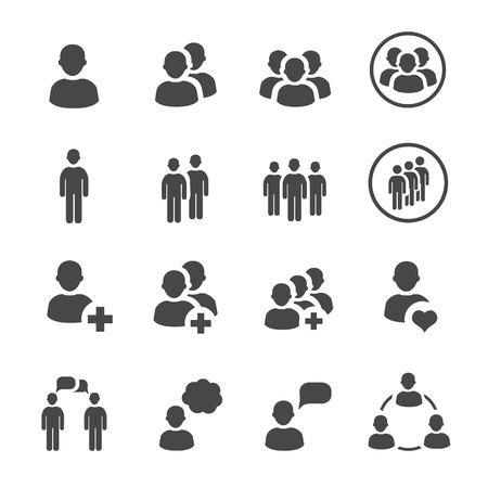 handshake icon: people icon  vector set Illustration