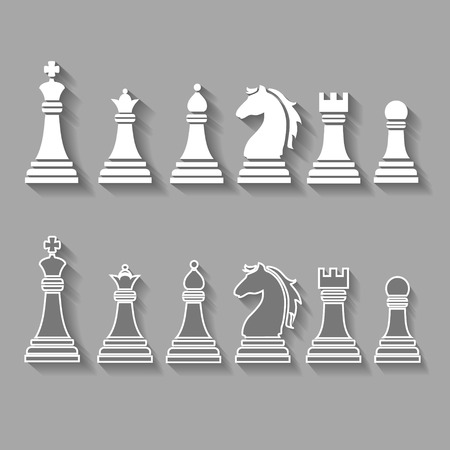 chess pieces including king, queen, rook, pawn, knight, and bishop Vector