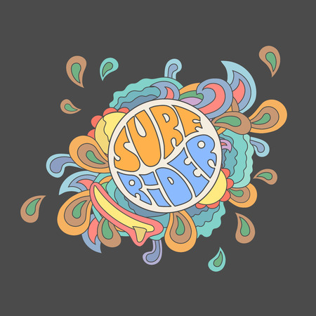 typography vector: Surf rider  typography, t-shirt graphics, vector Illustration