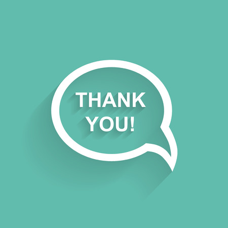 set design: Vector speech bubbles thank you flat design