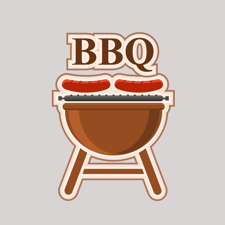 ready logos: Barbecue party vector element poster
