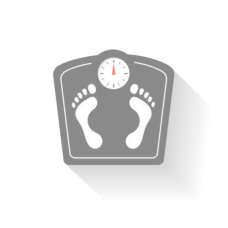体重計のアイコンを設定します。フット プリントと標識を重量します。
