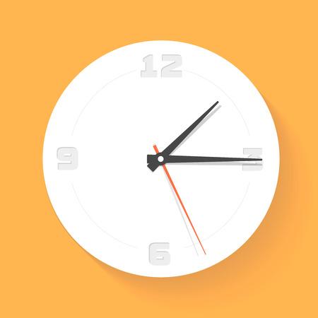 orologio da parete: Orologio a muro. Orologio. Vector icon Vettoriali