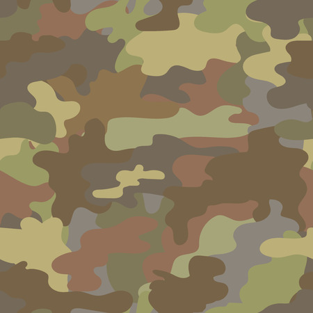 stealth: Seamless camouflage military pattern brown  vector Illustration