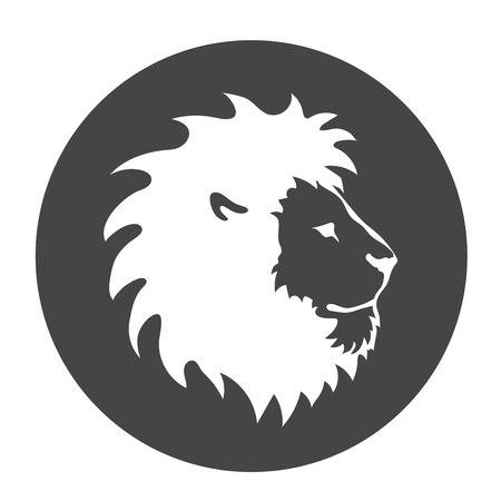 dingbat: Lion face emblem template  for business or t-shirt design.