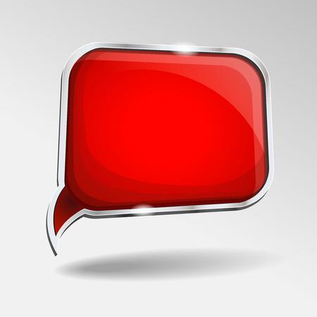 dialogo: Burbuja del discurso rojo brillante abstracto. fondo abstracto rojo.
