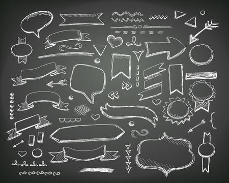 手描きのスケッチの手描きの要素。  イラスト・ベクター素材