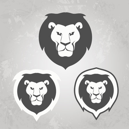 Set of Lion templates Stock Illustratie