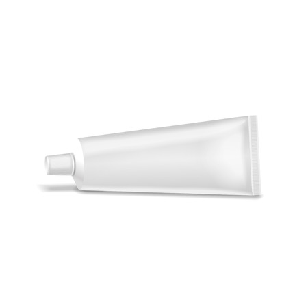 tooth paste: Realistic white tube. For cosmetics ointments, cream or tooth paste, glue.elements