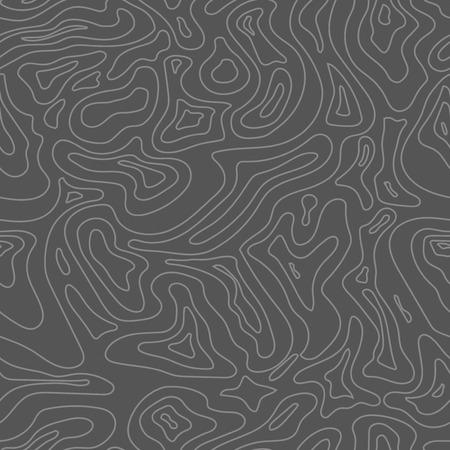 Topografische kaart naadloos patroon. Stock Illustratie