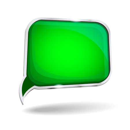 glossy: abstract glossy speech bubble in perspective with place for text background