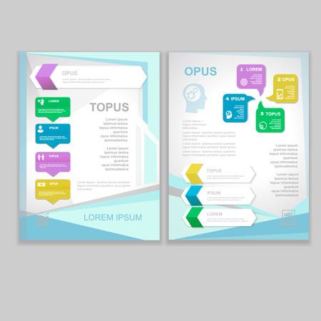 Vector Brochure Flyer design  Layout template. infographic