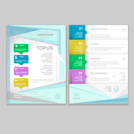 layout design template: Vector Brochure Flyer design  Layout template. infographic
