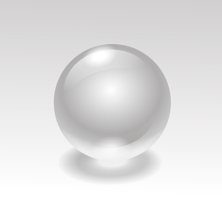 ball on water: Glass realistic water sphere ball isolated on background Stock Photo