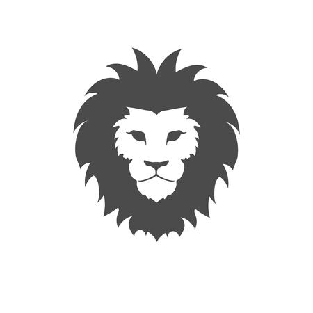 lion silhouette: Lion face logo emblem template for business or t-shirt design.  Design Element.