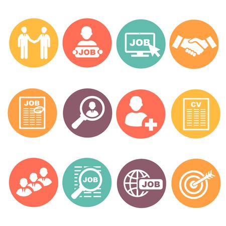 web icons: Job hunting Illustration