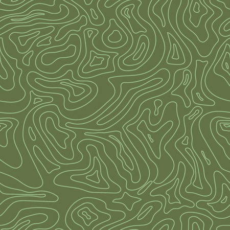 Topographic Map Seamless  green Pattern