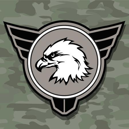 Eagle head logo embleem sjabloon mascotte symbool voor zakelijke of shirt ontwerp Stockfoto