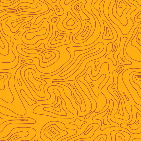 topographic: Topographic Map yellow Seamless Pattern.  Illustration