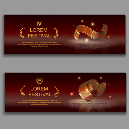 film industry: festival movie horizontal banners Illustration