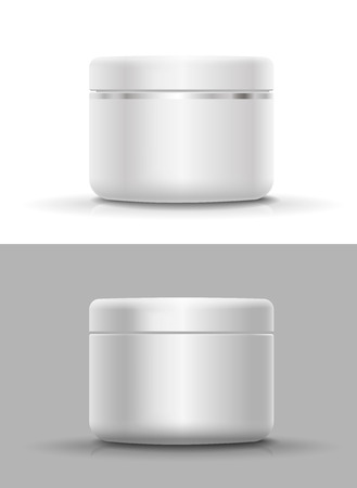 Blank Cosmetic Container for Cream, Powder or Gel 版權商用圖片 - 49611410