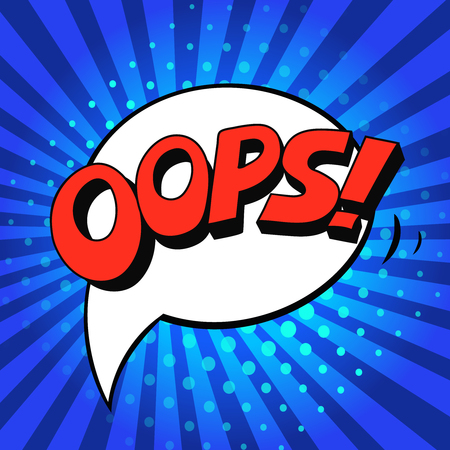 zonk: Oops! - Comic Speech Bubble, Cartoon pop art  vector Illustration