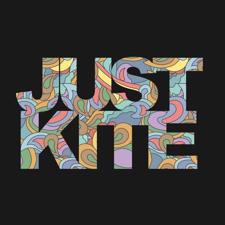 Surfer la typographie, à seulement kite surf t-shirts graphiques, des vecteurs