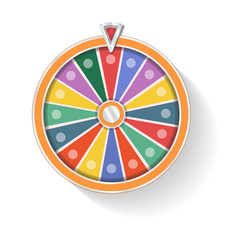 wheel of fortune: Colorful wheel of fortune isolated infographics
