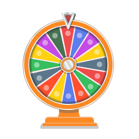 フラット ホイールオブフォーチュン ギャンブルのデザイン テンプレート